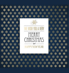 christmas background with snowflakes and merry vector image vector image