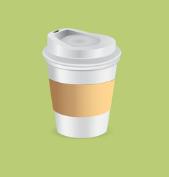 cup paper coffee vector image