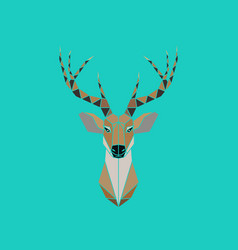 deer head abstract isolated on a green backgrounds vector image vector image