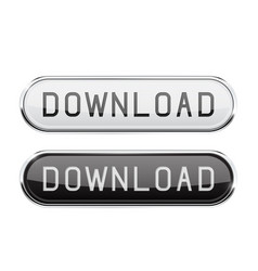 download glass button oval black and white buttons vector image vector image
