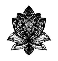 flower lotus tattoo vector image