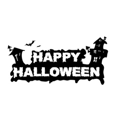 Happy Halloween House vector image