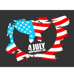 Independence Day America Symbol of countrys eagle vector image vector image