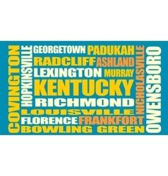 Kentucky state cities list vector