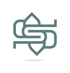 lettering s logo design vector image