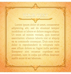 Light golden classic premium plaque vector