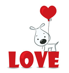 Loving dog vector image vector image