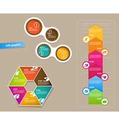 Set of infographic objects with numbers vector image