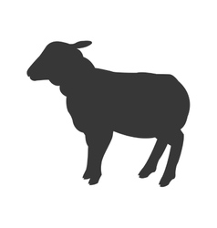 Sheep silhouette icon vector