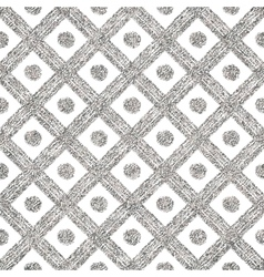 Silvery seamless pattern of diagonal lines and vector