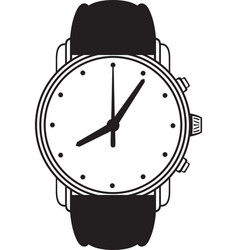 Symbol wristwatch vector image