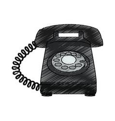 telephone icon image vector image