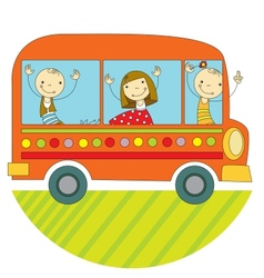 Travel by bus vector image