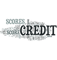 z credit scores text word cloud concept vector image vector image