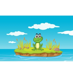 Angry cartoon frog vector