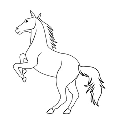 Black and white horse design vector