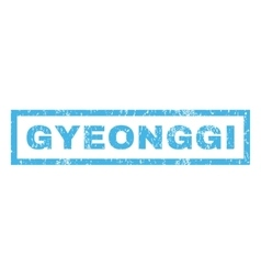 Gyeonggi rubber stamp vector