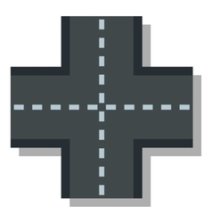 Crossroad icon flat style vector