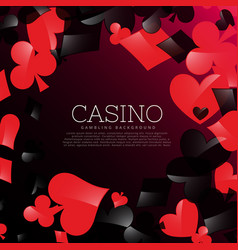 Casino background with playing cards symbols vector