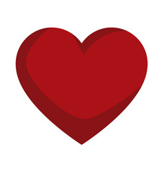 Red love heart gift romance icon vector