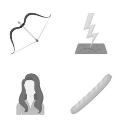 Hairdresser history achievement icons in set vector