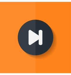 Next track web iconMedia player Flat design vector image