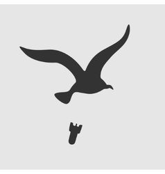 Symbol bird bombs vector