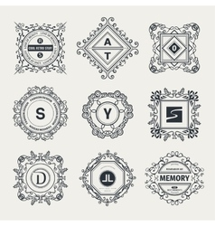 Monogram luxury logo vector image