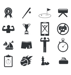 Sport icon set 5 simple vector