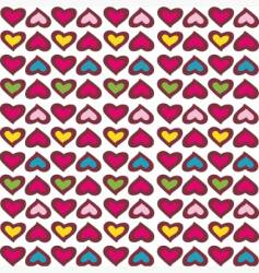 retro hearts vector image