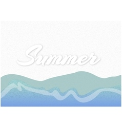 Sandy beach with the inscription summer vector