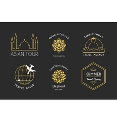 Asian logo templates vector
