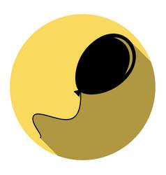 Balloon sign flat black icon vector