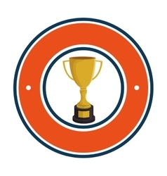 Baseball trophy award sport vector