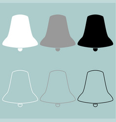 bell white grey black icon bell white grey vector image
