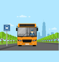 Bus driver picture vector