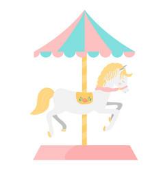 Carousel horse vector
