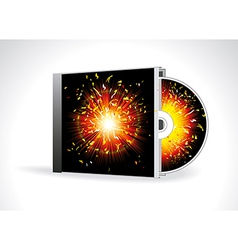 CD Cover Design with 3D Presentation Template vector image vector image
