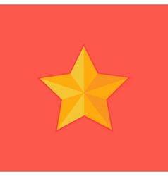 Christmas yellow star flat icon vector