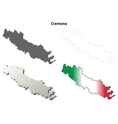 Cremona blank detailed outline map set vector