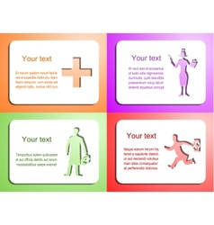 doctor card set vector image vector image