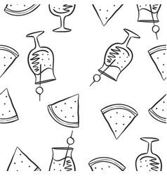 Doodle of juice drink hand draw vector