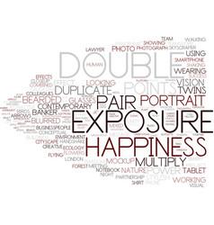 Double word cloud concept vector