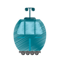 Drawing cable car transport image vector