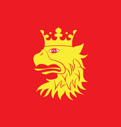 Flag of scania is the southernmost county of vector