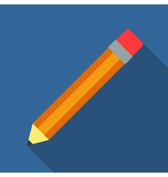 Flat pencil vector image