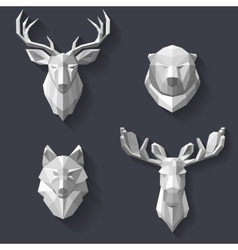 Forest animals on the wall vector