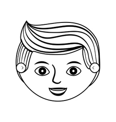 front face man silhouette with hairstyle vector image vector image