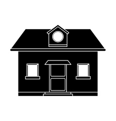 Front view home window loft pictogram vector
