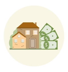 House and Money Business Concept vector image vector image